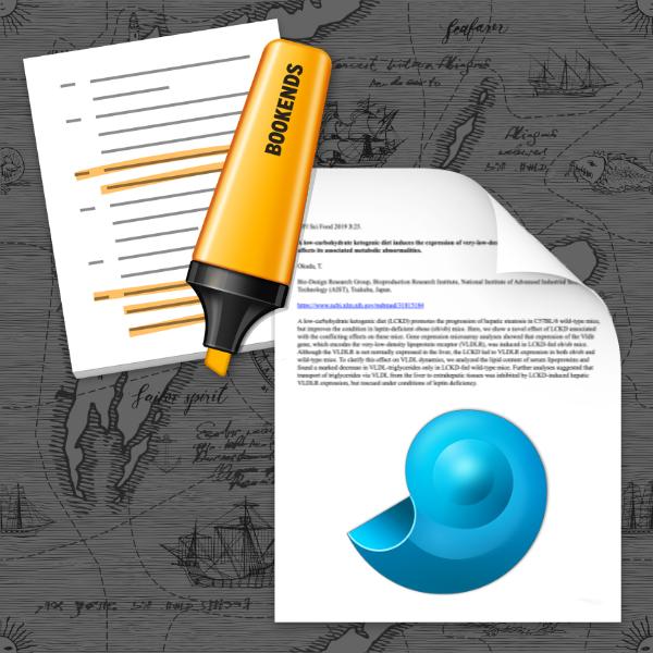 Dateisymbole von Bookends und DEVONthink.