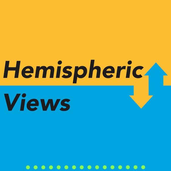 Logo of the Hemispheric Views podcast.