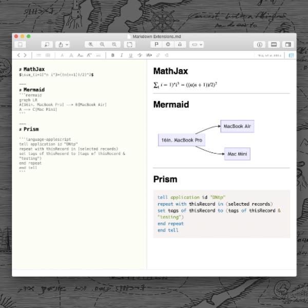 Markdown-Datei mit erweiterter Syntax.